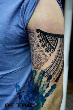 Slovak folk tattoo
