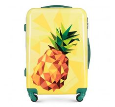 The suitcase made from a hardwearing ABS material with the additional polycarbonate coating. Crafted in captivating modern design with colourful prints of nature and wildlife, this suitcase will meet the expectations of every savvy traveller. Designed with geometric casing, this luggage boasts a blend of summer style and creativity! | WITTCHEN #wittchen #wittchencom #luggage #suitcase #luggageset #travel #exoticdesign #absmaterial #absluggage Luggage Suitcase, Luggage Sets, Leather Handbags, Leather Wallet, Best Wallet, Office Accessories, Suitcases, Modern Design