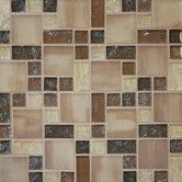 Found it at Wayfair - Ice Crackle Random Sized Mosaic Gloss Matte Tile in Brown