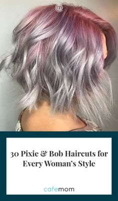 30 Magical Bob and Pixie Cuts My Hairstyle, Hairstyles With Bangs, Pretty Hairstyles, Short Hair With Bangs, Short Hair Cuts For Women With Thick, Long Bangs, Thick Hair, Short Cuts, Hair Highlights