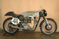 team obsolete motorcycles | Team Obsolete Boy Racer - 1956 AJS 7R - Right Side