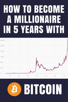 With the exponential growth and adoption of Bitcoin worldwide, learn how to become a millionaire in 5 years with Bitcoin.