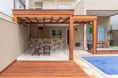 Outdoor Kitchen Patio, Indoor Outdoor Living, Outdoor Decor, Home Design Decor, House Design, Backyard Bar, Small Backyard Design, Kitchen Room Design, Decks And Porches