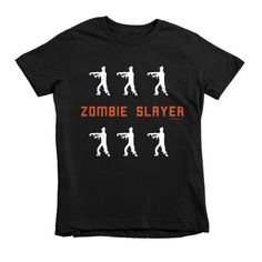 "Kids Short sleeve Halloween ""Zombie Slayer"" t-shirt"