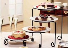 Four tier buffet server - 3 available
