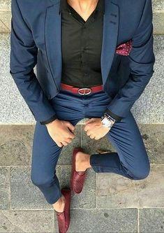 Men's Fashion Business 2 Piece Suit Up To Source by trendsettingfas dress man Best Mens Fashion, Mens Fashion Suits, Fashion Menswear, Cheap Fashion, Stylish Men, Men Casual, Mode Man, Style Masculin, Designer Suits For Men