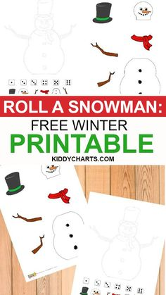 We're delighted to present this roll a snowman free winter printable game to you. Check it out to know more in details.