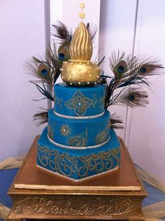 Cake made by Elegant Temptations - Chic Indian Wedding!