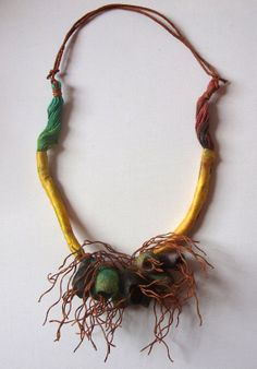 Earth Inspired Silk Cocoon Necklace by Delacroux on Etsy, £26.95