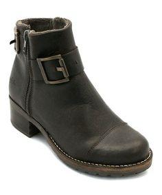 Love this Dark Brown Bet Leather Ankle Boot on #zulily! #zulilyfinds