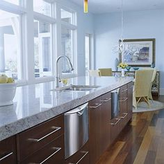 Dishwasher Drawers  Could put these anywhere you have dishes - wet bar or kitchen      Dishwasher drawers add convenience and style in the kitchen. Flanking both sides of the sink, drawers make cleanup quick and easy. They also add symmetry to the room while retaining their practical quality.