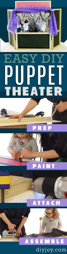 DIY Puppet Theater- DIY  Gifts for Kids - Homemade Presents for Children and Crafts for Kids  | How to Build a Puppet Theater |