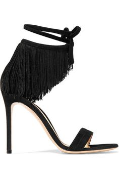 Gianvito Rossi | Fringed suede sandals | NET-A-PORTER.COM