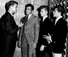 Dick Clark, Fabian, Bobby Rydell, Frankie Avalon.  1959.