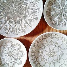 Ceramic plates in the making, work in progress - - #clayart #drying #workinprogress #ceramicart #ceramicdesign #ceralonata