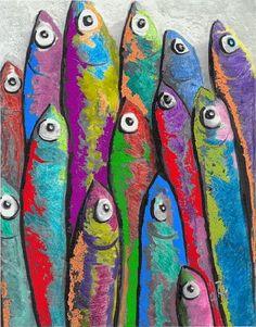 Pop Art Sardines: A Study of W. Kevin Murray's Art Pop Art Sardines: A Study of W. Kevin Murray's Art,Artists- lessons Pop Art Sardines: A Study of W. Kevin Murray's Art: Kim & Karen:. Pop Art, Sisters Art, Soul Sisters, Fish Crafts, Fish Design, Fish Art, Beach Art, Art Education, Art Lessons