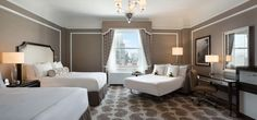 The iconic San Francisco Fairmont, with plenty of room for the whole family (and right on the trolley line). Visit us for discounts! greatfamilytraveldeals.com
