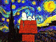 Snoopy in Van Gogh