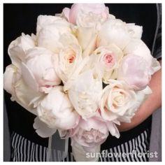 #blush #peony #wedding #bride #bouquet #flower