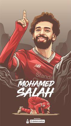 Mohamed Salah piłkarzem Liverpoolu w wersji rysunkowej Liverpool Team, Camisa Liverpool, Football Player Drawing, Soccer Drawing, Soccer Players, Cr7 Messi, Neymar Jr, Soccer Art, Dortmund
