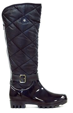 Women's Fashion Dav Rain Boot Portland Quilted Black – däv // snow boots for work? a CapHillStyle commenter recommends this brand