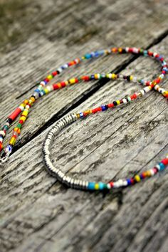 boho seed bead necklace