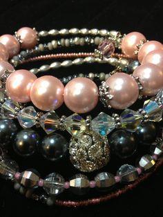 Love memory wire bracelets
