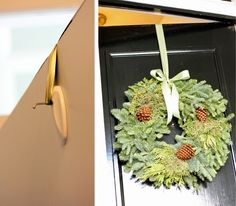 hanging a wreath the easy way
