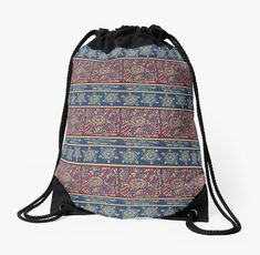 African Batik style pattern, inspired by the African Shweshwe fabrics Pattern Fashion, Tote Bags, Drawstring Backpack, Fabrics, African, Inspired, Artwork, Stuff To Buy, Inspiration