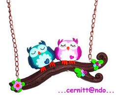 deviantART: More Like Polymer clay owls charms by ~cernittando