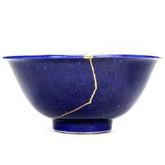 Myriam Greff - Bol, kintsugi, Kashibachi (bol à gâteaux), porcelaine, laque et…