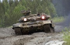 t90 tank in the mud