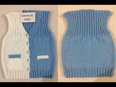 Baby Knitting Patterns, Baby Sweater Patterns, Knitting Charts, Baby Girl Cardigans, Baby Sweaters, Knit Vest, Baby Dress, Crochet Baby, Fashion