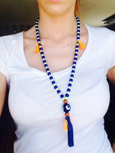 #handmade #necklace #evileye #ftouftou