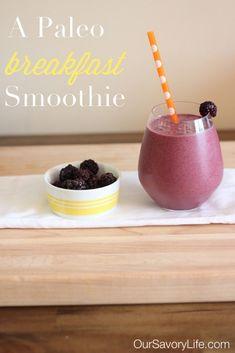 paleo breakfast smoothie gluten-free, grain-free, dairy-free
