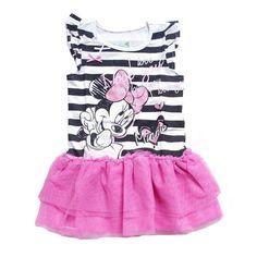 girls dresses summer 2016 high quality cartoon mouse toddler girl dress kids clothes 2016 new fashion stripe kids girl dress