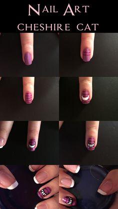 Nail Art - Cheshire Cat