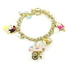 $65 Betsey Johnson Jewelry Candyland Cotton Candy Charm Bracelet