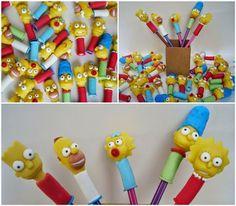 Biscuit Making Of : Ponteiras para lápis Simpson - Monique Domiciano
