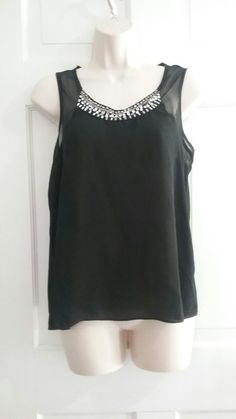 f28fe55eacf0fa Black Sheer jewel neck top Love Clothing, Jewel, Tank Tops, Clothes For  Women