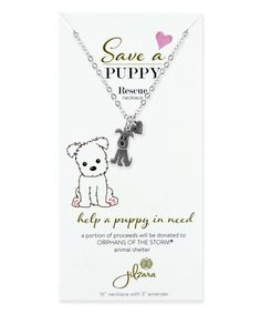 JILZARA Silvertone Dog BFF Animal Rescue Charm Necklace  Dainty animal-inspired charms anchor this necklace, rendered in silvertone metal for a luminous look.   Chain: 16'' L with 2.5'' extender Charm: 0.75'' L Lobster claw clasp Zinc alloy  so cute  dog rescue animal shelter