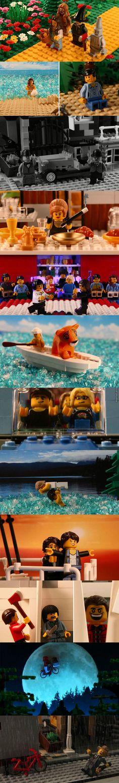 Movie scenes remade with Legos.