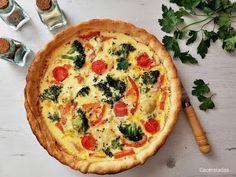 Quiche de verduras - Receta fácil y rápida   CACEROLADAS: Quiche de verduras - Receta fácil y rápida