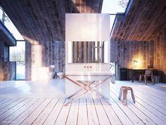 KOŁO ULTRA / Modern Barn – nowoczesna STODOŁA   wnętrza & DESIGN   projekty DOMÓW   dom STODOŁA