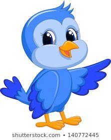 Illustration about Illustration of Cute blue bird cartoon. Illustration of artwork, image, bird - 33233676 Cute Drawings, Animal Drawings, Animal Pictures For Kids, Disney Princess Cartoons, Looney Tunes Bugs Bunny, Fairy Wallpaper, Baby Boy Scrapbook, Cute Cartoon, Cartoon Birds
