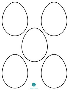 Easter eggs, Create your own and Templates on Pinterest