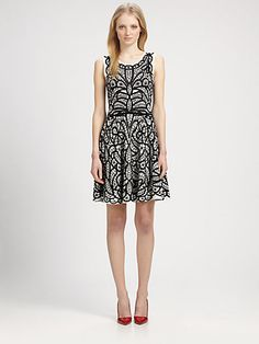 BCBGMAXAZRIA - Lace-Print Dress - Saks.com