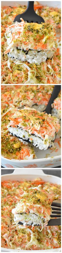Sushi Bake! It's basically the best parts of a giant California roll made 100x larger and requires no special sushi chef skills!