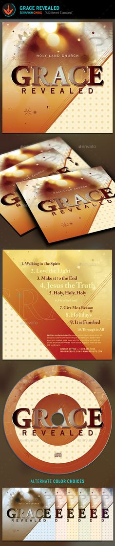 Grace Revealed: CD Artwork Template - CD & DVD Artwork Print Templates
