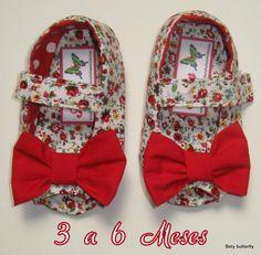 sapatinhos de tecido vermelho - Pesquisa Google